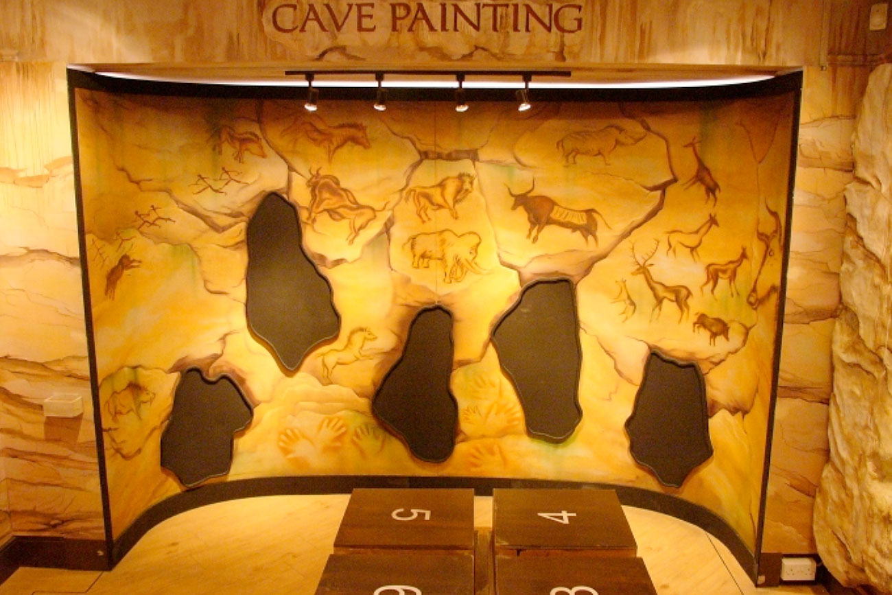 Cave painting interactive, Kents Cavern