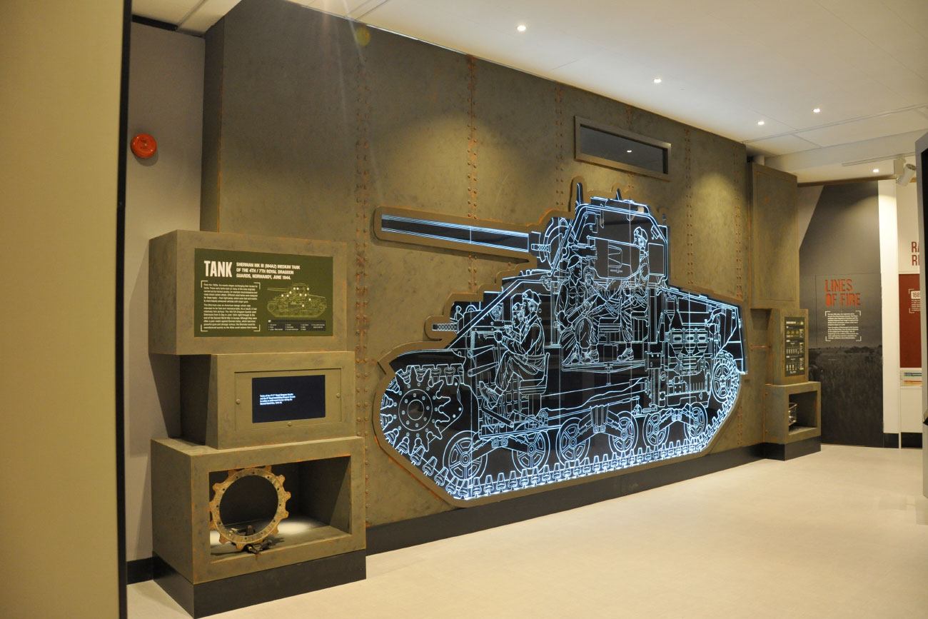 Sherman tank painting