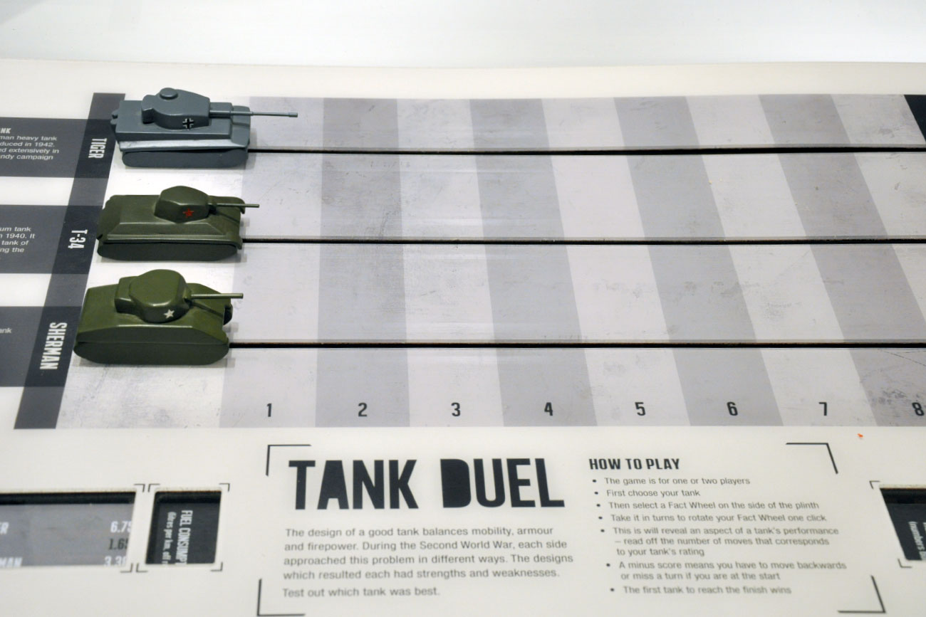 Tank duel interactive game, York Army Museum